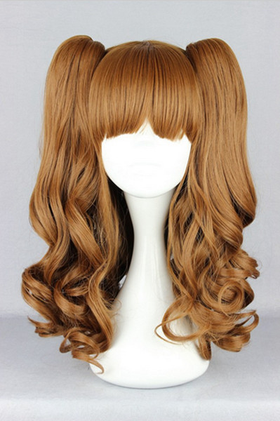 MCOSER Free Shipping Fashion 45cm Long Wavy Brown Ponytail High Quality Synthetic Women Cosplay Lolita Wig<br><br>Aliexpress