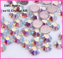 Free Shipping! 1440pcs/Lot, ss10 (2.7-2.9mm) High Quality DMC Crystal AB Iron On Rhinestones / Hot fix Rhinestones