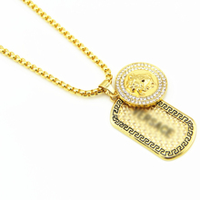 New Iced out ID Dog Pendant Hip Hop Necklace For Men