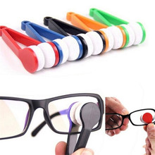 Multifuctional Glasses Sunglasses Eyeglass Spectacles Cleaner Cleaning Brush Wiper Wipe Kit NRQ10(China)