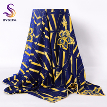 [BYSIFA] Brand Ladies Silk Scarf Shawl 2017 New Top Grade Women Large Twill Square Scarves Wraps 140*140cm Muslim Head Scarf(China)