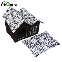 Indoor Dogs Cats Houses Dog Kennel Bed Cave Puppy Pet Warm Soft Sleeping Bed Cushion For Small Medium Dogs panier pour chien