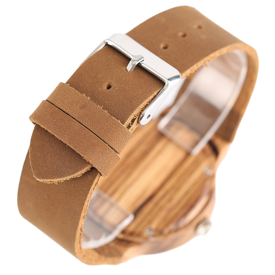 Top Gift Rhombus Dial Women Watch Creative Light Bamboo Wood Wristwatch Fashion Casual Clock Female Genuine Leather Ulzzang 2017 Christmas Gifts (6)