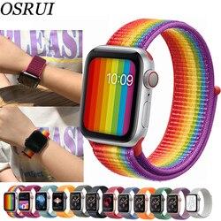 Спортивная петля для Apple watch band 42 мм 38 мм correas ремешок 4 44 мм 40 мм Iwatch series 3 2 1 ремешок для часов браслет дышащий ремешок