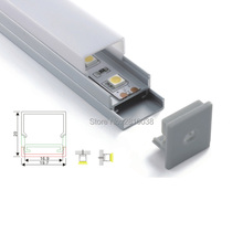 50 X1M Sets/Lot 6063 alloy led aluminum profile channel and square profile alu for ceiling or recessed wall lamps(China)