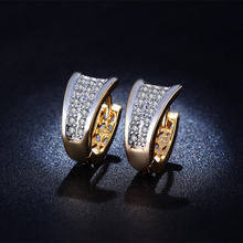 Wholesale Gold-plated fashion exquisite CZ Diamond Earrings AAA Cubic Zirconia Lady Premium Jewelry for Girls Gifts MSE027