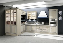 PVC/vinyl kitchen cabinet(LH-PV006)(China)
