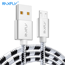 RAXFLY Cable Micro USB Samsung S4 S5 S6 Edge 0.5M/1M/2M Micro USB Charging Wire Xiaomi Note 4 4X 5 Plus Data Sync Cabo
