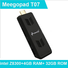 Intel PC Stick Meegopad T07 Quad Core Mini PC Windows 10 Home Bay Trail Z8300 4GB DDR3 32GB eMMC LAN HDMI WiFi Bluetooth