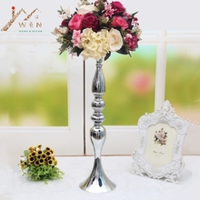 "3 colors! Free shipping 50cm/20"" metal candle holder candle stick wedding centerpiece event road lead flower stands rack vase(China)"
