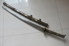 Collectable Old WWII Japanese Samurai Katana/ DAO/sword,Oriental Zodiac,gain an immediate victorysteel blade