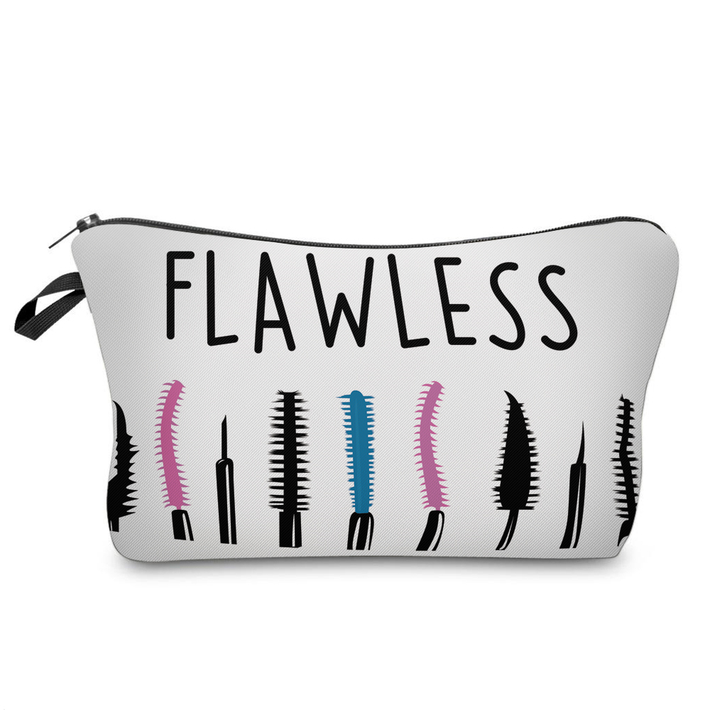 """I Like My Eyelashes"" Printed Makeup Bag Organizer 7"