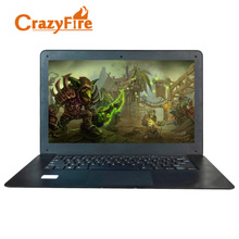 Crazyfire 14 Inch J1900 2.0GHz 8G RAM 256G SSD Quad Core Slim Laptop Computer Windows 10 1600*900 HD Screen Webcam Gaming Laptop