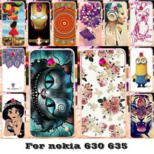Soft Silicon TPU & Plastic Painted phone covers Cases For Nokia Lumia 630 DS Dual SIM RM-978 N630 3G RM-976 for nokia n630 bag