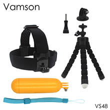 for Xiaomi for Yi Accessories Octopus Tripod Head Strap Floaty Bobber Monopod For Gopro Hero 5 4 3+ for SJCAM Action Camera VS48(China)