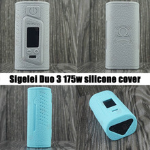 1pc RHS 13 different colors of Silicone Case Cover for Sigelei Fuchai duo3 175W tc vape kit your best choice as a gift free ship(China)