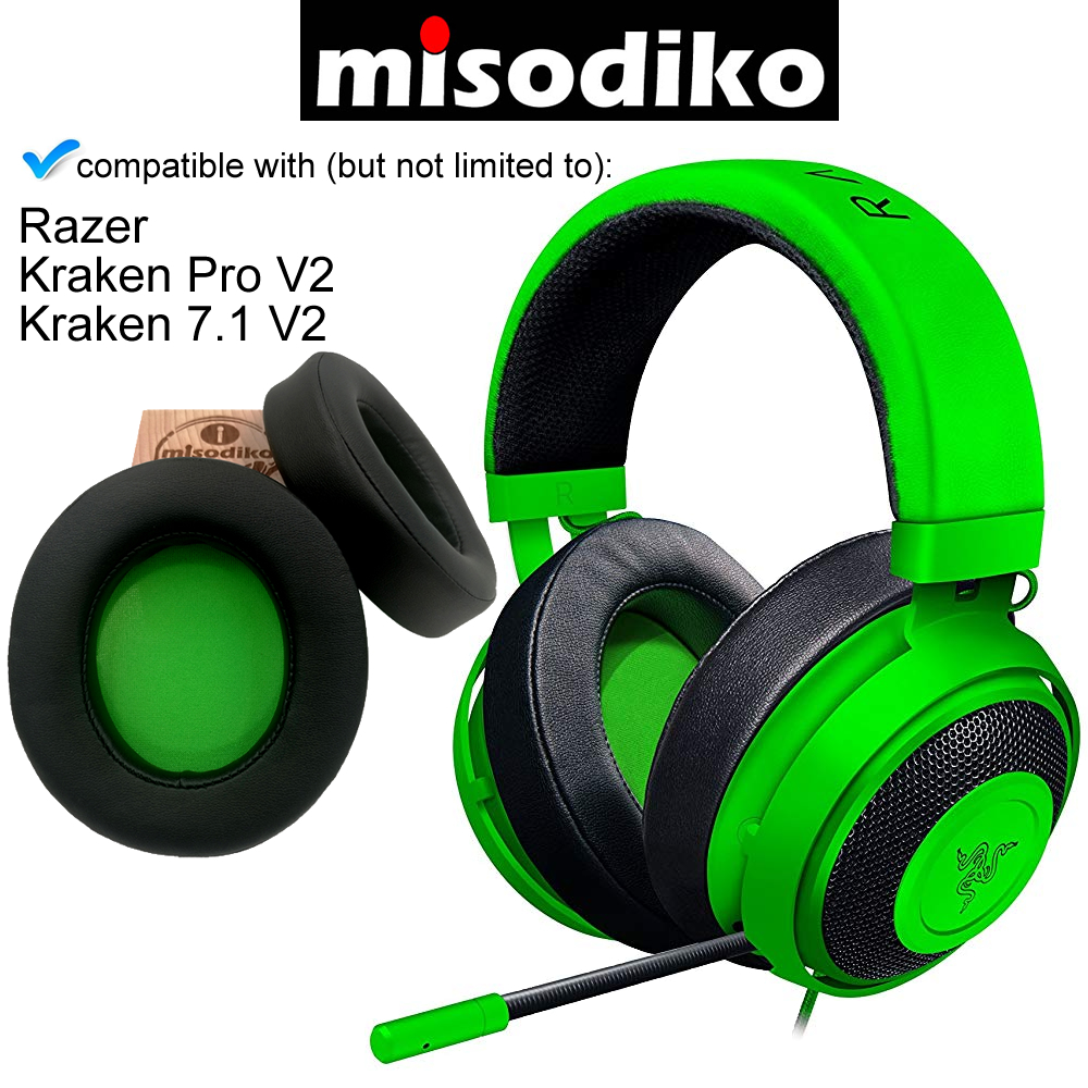 Replacement Foam Cover Ear Pads Cushion For Razer Kraken 7.1 V2 USB Gaming Kit