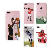 Fashion MBA Football Athelete Sports TPU Soft Floral Paisley Case Skin Coque Shell Cover for Apple iphone 5 5s SE 6 6s 7 Plus