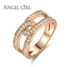 Angel girl AAA+ CZ  vintage jewelly ring costume jewelry rings for women and girls as christmas gifts for male wedding rings