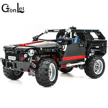GonLeI 3341 589pcs King Steerer Transport Cruiser SUV Technic Truck Racing Car Model Building Block Toys