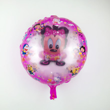 Free Shipping New Round Ball Ball Minnie Aluminum Balloons Children Toy Party Birthday Decoration Balloon