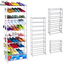 Homdox Portable Shoe Racks Folding Multilayer Non Woven Fabric Combination Dustproof Shoes Shelf Living Room Furniture #45-20