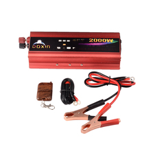 Car Inverter 2000W Protable Power Inverters Modified Sine Wave Automobile Power Inverter Adapter With Remote Control(China)
