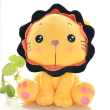 Super cute cartoon lion toy doll Sitting lion plush toys wedding doll, a lovely girl children's birthday present free shipping