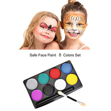 Facial Fashion Flash Face Body Paint Oil Painting Art Non-toxic Paint Oil Halloween Party Makeup Painting Set(China)