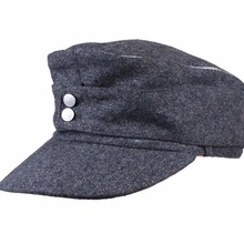 WWII GERMAN WH EM OFFICER M43 PANZER WOOL FIELD CAP GREY IN SIZES