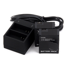 GoPro Hero 3 Camera Battery Pack 3.7V 1600mAh Lithium Batteries With Dual Charger For GoPro Hero3  Hero3+ Camera