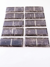10pcs/pack 0.5V 150MA Solar panels Polycrystalline Silicon solar cells solar accessories for DIY small toy accessories(China)