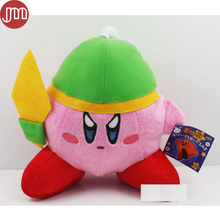 New Super Mario Star Kirby Plush Doll Keychains Popopo Pendant Key Ring with Green Hat 17cm Anime Plushie Baby Dolls Kids Gift