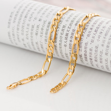 wholesale gold chain figaro chain cheap 6mm  chain wholesale stamped