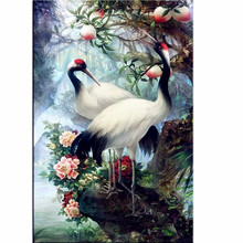 5D Diamond Embroidery Diamond Mosaic Lovers Birds Pictures Cross Stitch Knitting Needles Wedding Decoration Hobbies And Crafts(China)