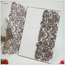 10 Pieces Laser Cut Wedding Invitations Decoration Favors Invitation Card Birthday Invitation Invitations Event Supplies 5ZSH824(China)