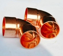 10PCS/LOT Inner D:22mm Thickness:1mm International standard Copper Welding Elbow Pipe Seamless Copper 45 Degree Elbow(China)