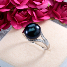 Top Selling High Quality 100% Real Freshwater Pearls Jewelry Wedding Ring For Women Luxury Brand Jewelry Fine Gift With Box R001
