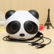 2016 Newest universal Cute Panda Shape usb Portable Mini Stereo Speaker for Desktop Laptop Notebook Cellphone High quality price