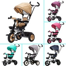 Children Tricycle Bicycle Two-way wheels Umbrella Strollers Light Baby Stroller For Travelling Tricycle Stroller Bike 3 Wheel(China)
