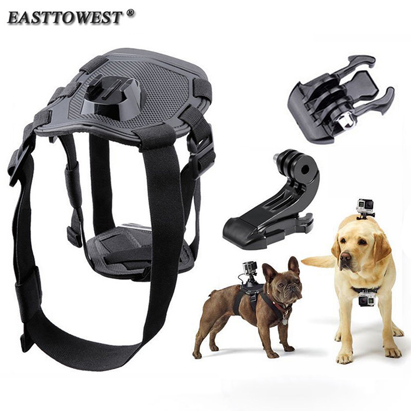 Easttowest Adjustable Elastic Dog Harness Chest Strap Back Mount Go Pro Hero 4 Xiaomi Yi Action Camera Sjcam SJ4000 SJ7000