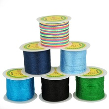Multi Colors 49 Yards Durable Chinese Knot Cord 2MM Nylon Waxed Thread Cord for DIY Handicraft Tool Hand Stitching Thread