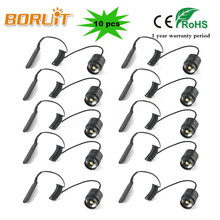 BORUIT 10 Pcs 3T6 Flahslight Remote control Rat Tail cap Press Extend Tail Switch For Torch (C8 Flashlight)