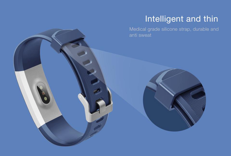 Hot Smart Wristband ID115 Plus Smart Band pedometer Fitness Bracelet Activity Tracker Mp3 Smart Bracelet Pk fitbit PK mi band 2 4