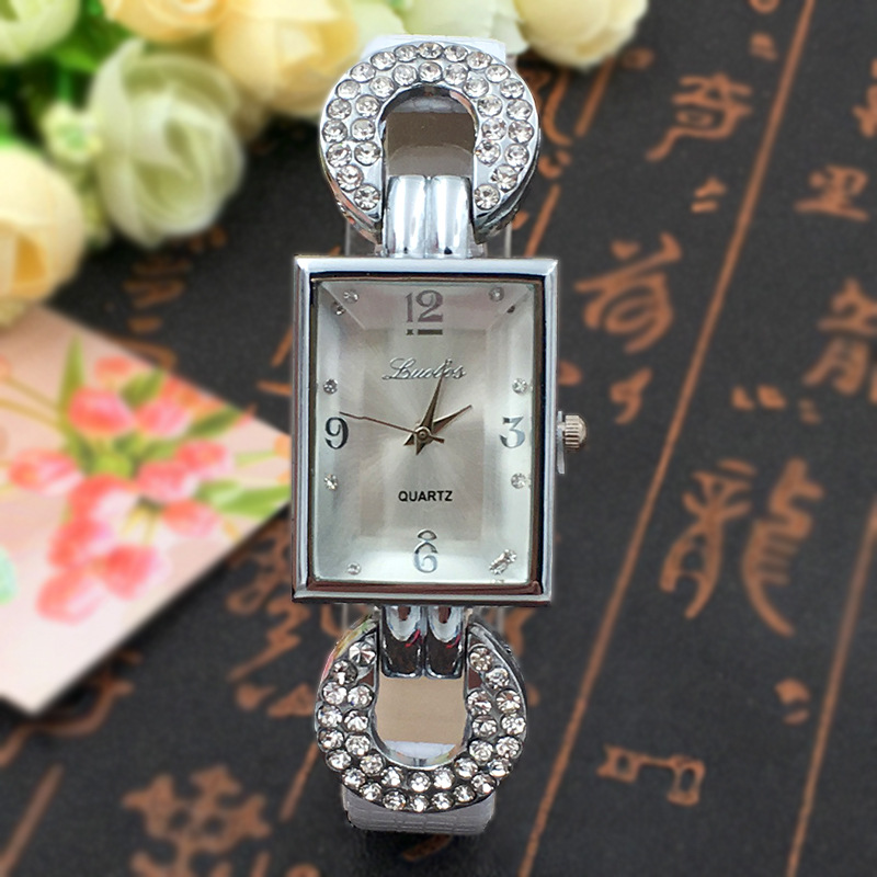 New Fashion Rhinestone Watches Women Luxury Brand Faux Leather Quartz watch Ladies Bracelet Dress Watches relogio feminino Clock<br><br>Aliexpress