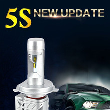CROSS TIGER 5S 72W H4 H11 9006 H7 LED Headlight Bulbs Car Styling Hi-Lo Single Beam Lamp 8000LM Bright For 12V 24V Automobiles