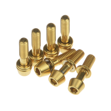 Titanium Ti Screw Bolts With Washers for Ritchey C260 Bicycle Stem Bike Accessories 7Pcs M4*15.3mm Allen Hex Taper Screw