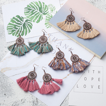 Buy New Fashion Statement Fringe Tassel Drop Earrings Women Boho Ethnic Wedding Party Costume Earrings Jewelry Accessories Gifts for $1.29 in AliExpress store