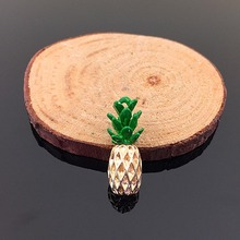 Cute Fruit Pineapple Pendant For Necklace&Bracelet Pineapple Charms Ananas Pendant DIY Making Wholesale(China)