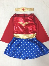 Kids Halloween Costumes For Girls, Wonder Woman Costume Dress, Girl Anime Cosplay Clothing, Disfraces Carnaval(China)